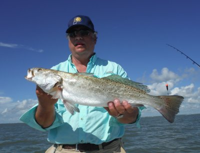 Sept 26 trout and redfish are thick in the bays and for Matagorda bay fishing report